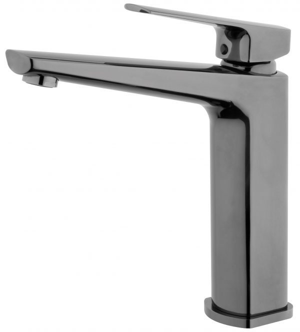 Voda Eclipse Sink Mixer in Mirrored Black VECL10MB