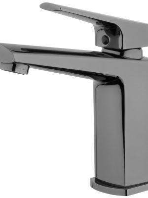Voda Eclipse Basin Mixer in Mirrored Black VECL20MB