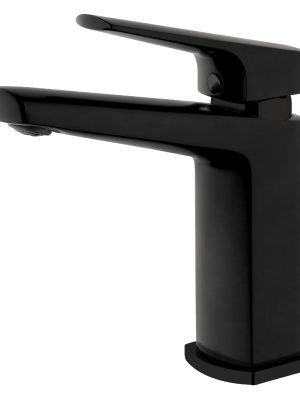 Voda Eclipse Swivel Basin Mixer in Matte Black VECL23BK