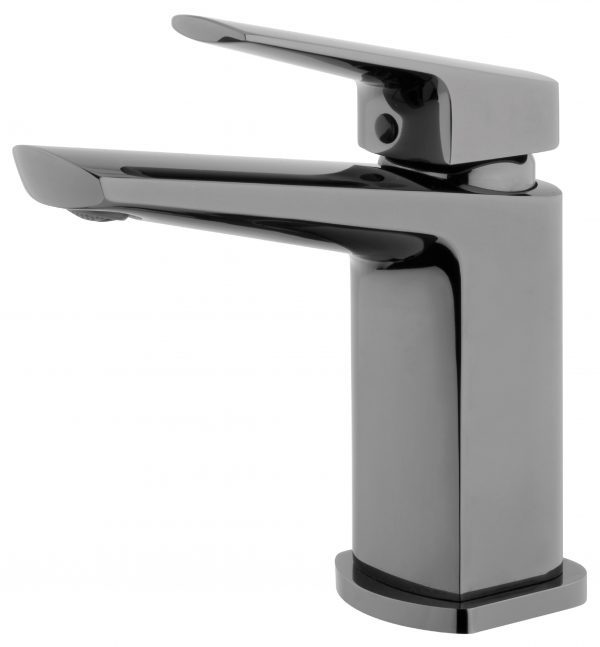 Voda Eclipse Swivel Basin Mixer in Mirrored Black VECL23MB