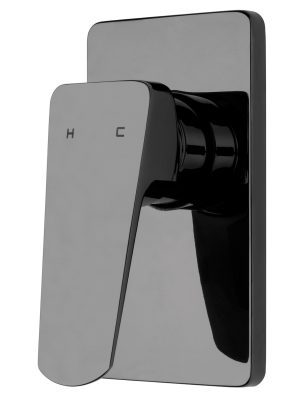 Voda Eclipse Shower Mixer in Mirrored Black VECL30MB