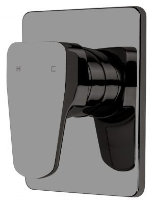 Voda Eclipse Vortex Shower Mixer in Mirrored Black VECL40MB