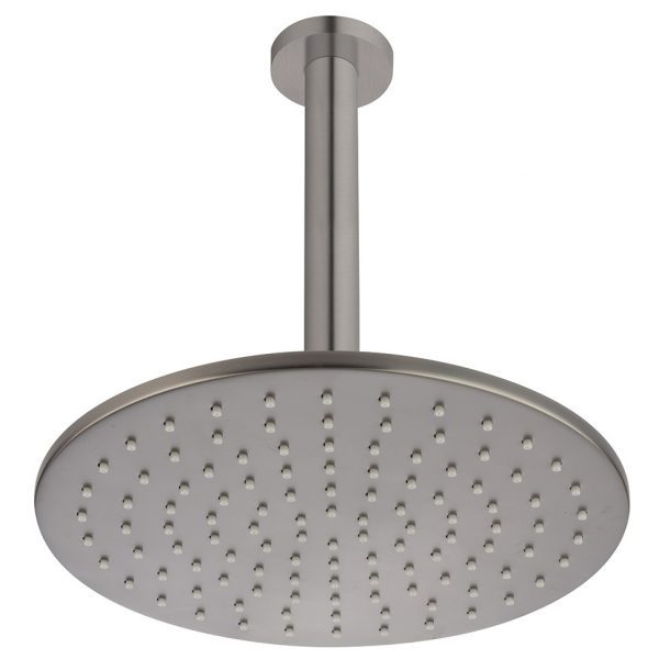 Brushed Gunmetal Round Ceiling Mounted Shower Drencher