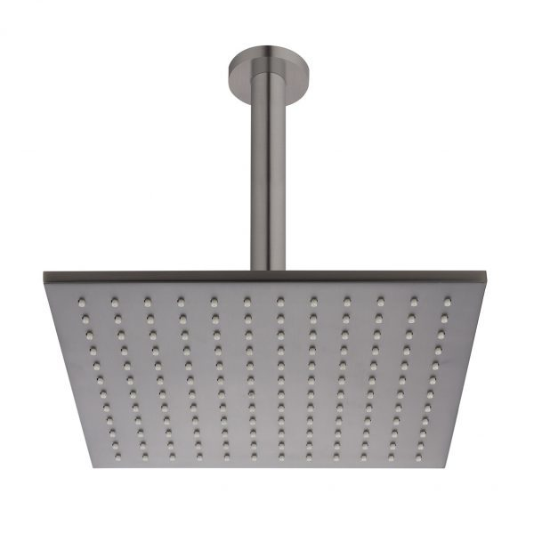 Brushed Gunmetal Square Ceiling Mounted Shower Drencher