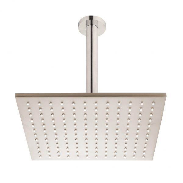 Brushed Nickel Square Ceiling Mounted Shower Drencher