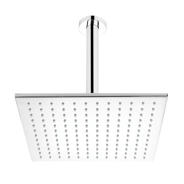 Chrome Square Ceiling Mounted Shower Drencher