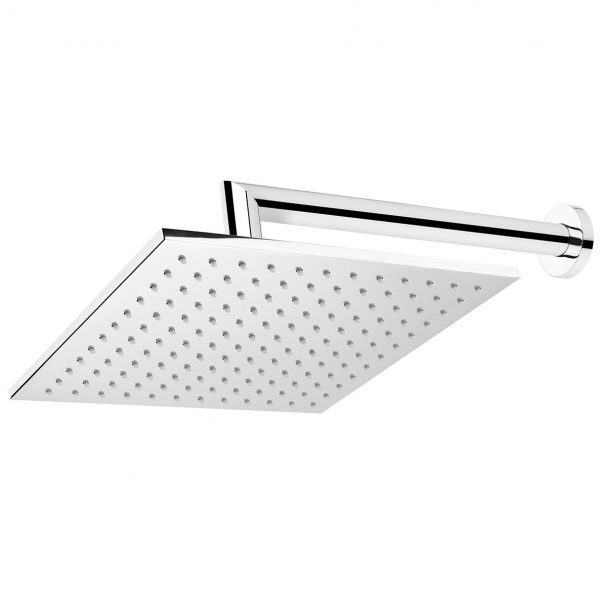 Chrome Square Wall Mounted Shower Drencher