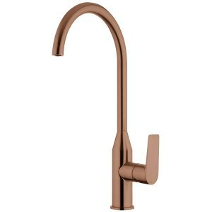 VOP11BCU Olympia Gooseneck Sink Mixer Brushed Copper