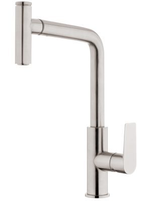 Voda Olympia High Rise Pullout Sink Mixer in Brushed Nickel VOP14BN