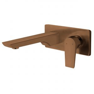 VOP21BCU Wall Mounted Basin Mixer Brushed Copper